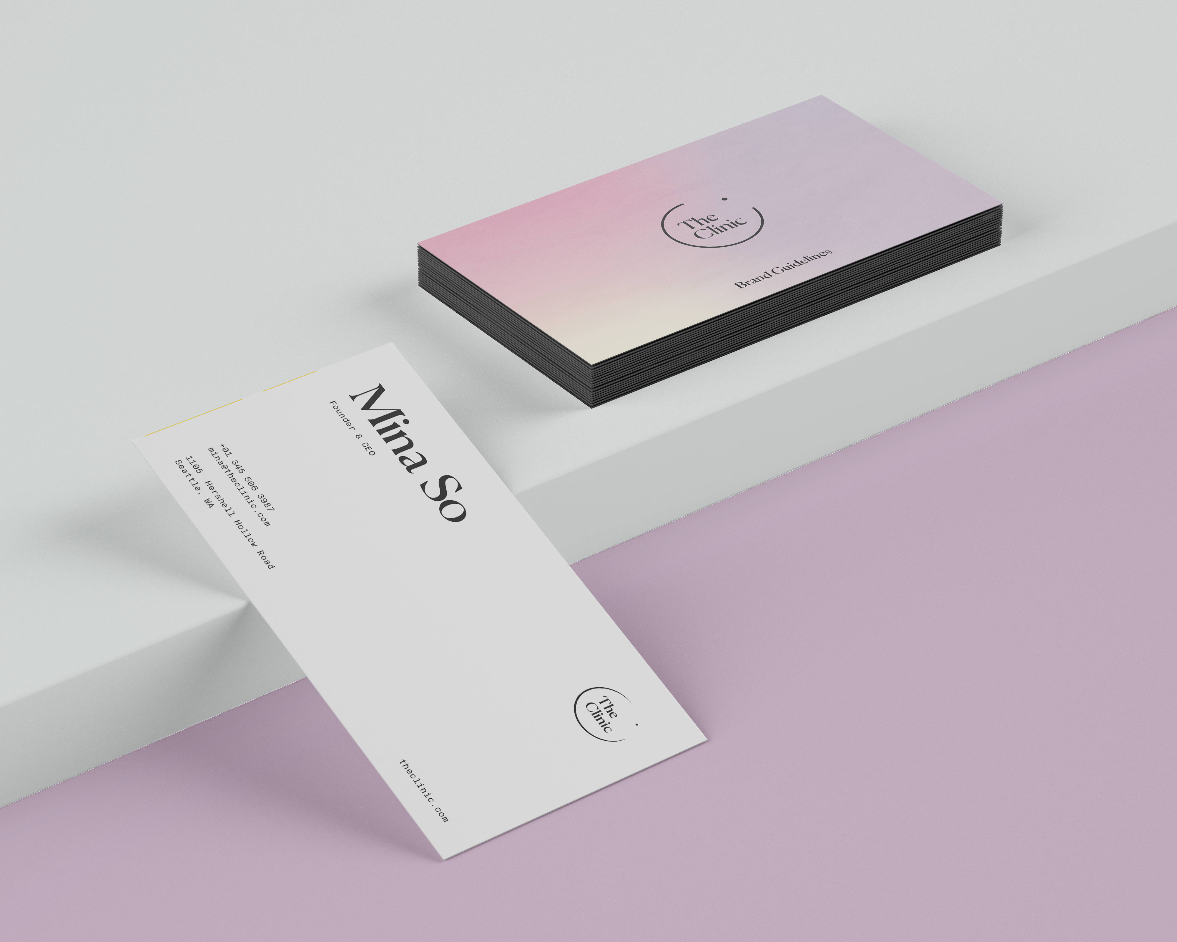 The Clinic Business Cards