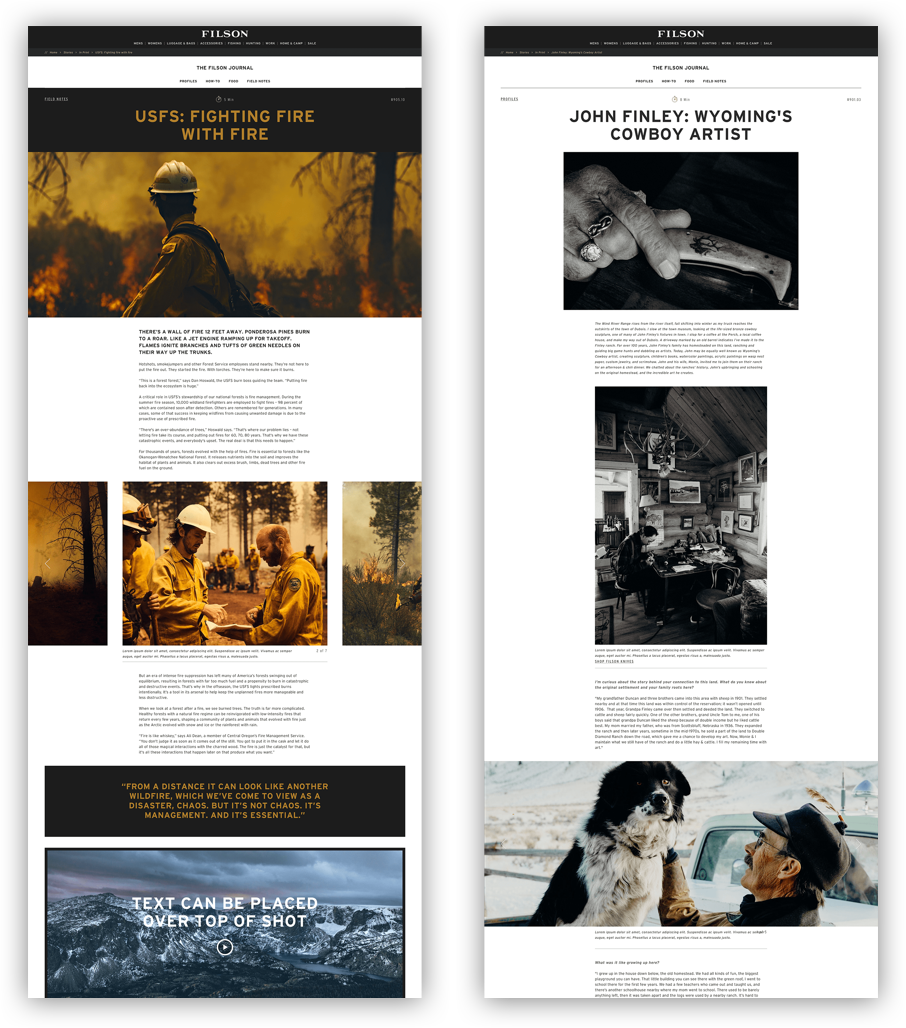 Filson Editorial Page Content
